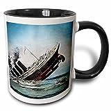 3dRose Titanic sinkend Magic Lantern Slide-Two Ton Schwarz Tasse, Keramik, Mehrfarbig, 10,2x 7,62x 9,52cm