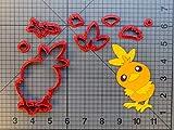 1 lot de emporte-pièces de la série Pokémon en 3D imprimé fondant, cupcakes, carte torchic, outil de décoration de gâteau...