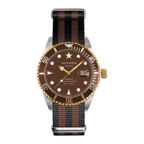 Reloj analógico de cuarzo 40 Oxygen Diver nailon EX-D-GOL-40