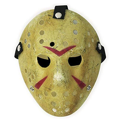 SN001 Jason Maske COSTUME PROP HORROR HOCKEY MASK HALLOWEEN - Kostüm Jason Friday 13th
