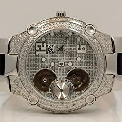 Aqua Master Mens Automatic Diamond Watch 0.20ctw W2122