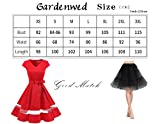 Gardenwed Damen Vintage 1950er Retro Rockabilly Cocktail Party Kleid Blue Rose M