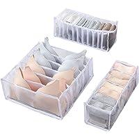 Wishstar Box Rangement sous Vetement, Organisateurs de Tiroirs Pliable pour sous-Vêtements Trois Pièces, Organisateur…