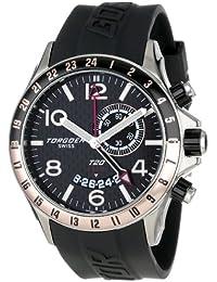 Torgoen Swiss T20304 - Reloj analógico de cuarzo para hombre, correa de plástico color negro (alarma, agujas luminiscentes)