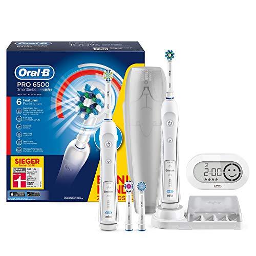 elektrische zahnbuerste zahnzwischenraeume Oral-B PRO 6500 SmartSeries Elektrische Zahnbürste mit Bluetooth-Verbindung, mit 2. Handstück und SmartGuide, weiß