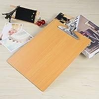 NUOLUX A4 Carta tamaño portapapeles de 3mm de espesor el perfil Clip madera prensada para trabajo de oficina
