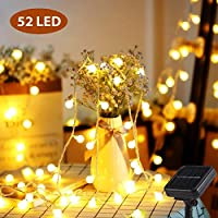 Mr.Twinklelight® Solar String Lights, 52 LED 6.7M IP65 Waterproof Solar Powered Fairy String Lights for Christmas/Outdoor Garden/Summer Party/Wedding Decoration etc (Warm White)