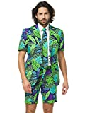 OppoSuits Tropical Summer Suits of Colorful Fancy Outfits for Men Come with Shorts, Short-Sleeved Jacket and Tie