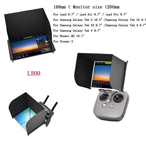 Preisvergleich Produktbild Omiky® Mode PGY L200 Schwarz PAD Monitor Hood Sonnenschirm FPV für DJI MAVIC Phantom4 PRO Inspire