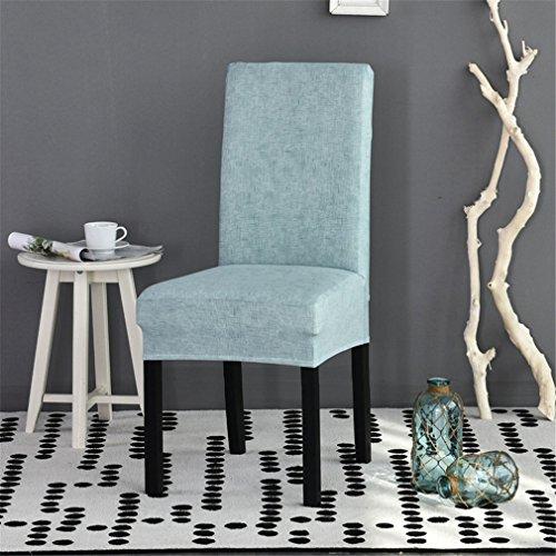 QsyyHome Stuhlbezug, abnehmbarer, elastischer Stuhlschutz für Esszimmer, Hotels, Banketts, Zeremonien und Feiern Hellblau (Water Blue)