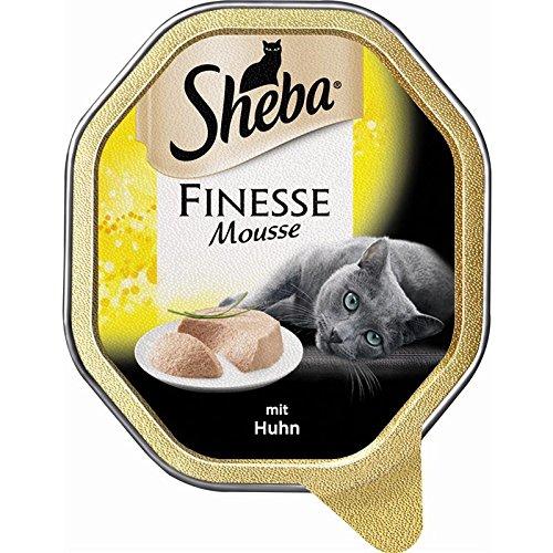 Sheba Finesse Mousse mit Huhn 22 x 85g Katzenfutter Nass -