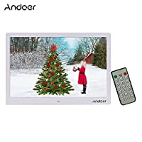 Andoer 15.4 Inch Digital Photo Frame LED 1280 * 800 Resolution Photo Album 1080P HD Video Playing with Remote Control Music Movie Clock Calendar E-Book Gift