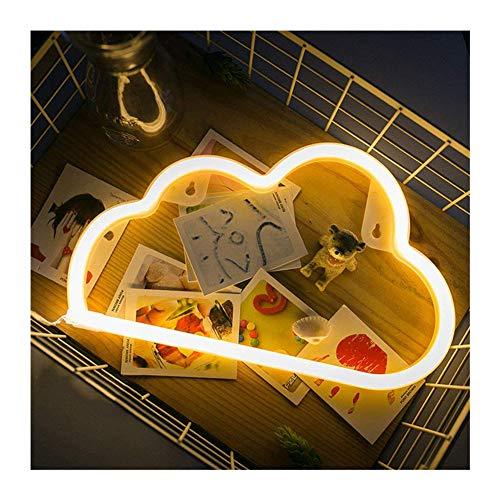 ein kaktus zum valentinstag DUBENS LED Neon Nachtlicht, Kreative Dekoration Leuchte, Nachtlicht Innen und Außenbereich Decor Lampe, Batterie/USB Powered, für Schlafzimmer Weihnachtsfeier Hochzeit Home Dekorationen (Wolken)