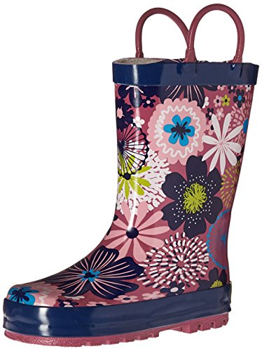 Western Chief Kids Sketch Floral Rain Boot Fuchsia