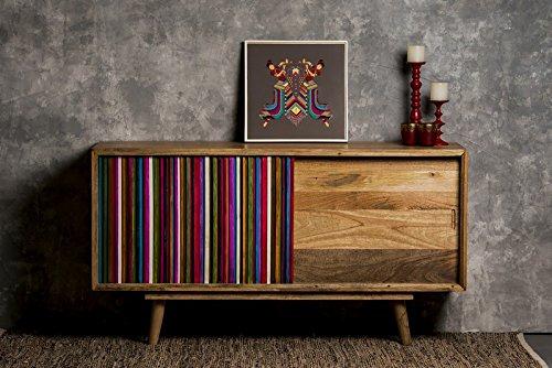 Bahut vintage coloré en bois massif \\
