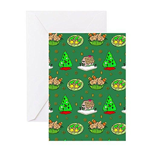 CafePress, Weihnachten, Bäume, Cookies, Hühner-Grußkarte, Note Karte, Geburtstagskarte, innen blanko, matt (Huhn Cookie)