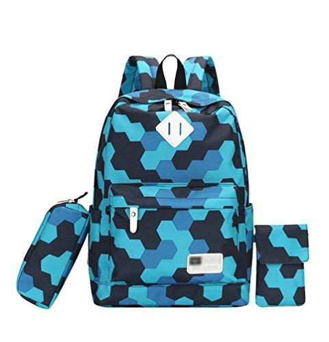 YoungSoul Sac à Dos Scolaire Garcon Ado - Cartable sac scolaire + Trousses + Pochettes tour de cou - Sacs d ecole collège lycée