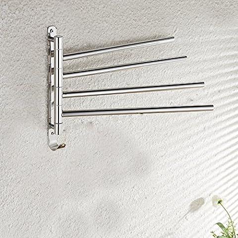 SSBY 304 en acier inoxydable barre à serviettes rotation, sèche-serviettes, porte-serviettes inox , 4 rod