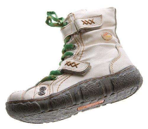 Bottines d'hiver pour femme en cuir tMA cheville doublé chaussures noir/vert/blanc/rouge/jaune-bottes-uni vieilli Blanc - Blanc