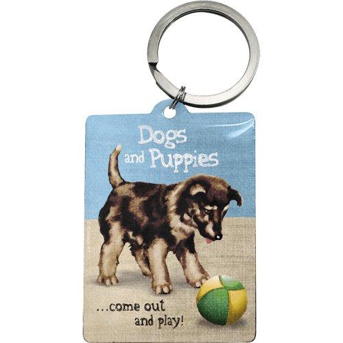 Nostalgic-Art 47027 Animal Club - Dogs and Puppies, Schlüsselanhänger 6x4,5 cm (Handtasche Welpe, Hund, Zubehör Handtasche)