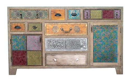 The Wood Times Sideboard Vintage Wohnzimmerschrank Massiv Dhaka Mangoholz, BxHxT 150x90x40 cm - 2