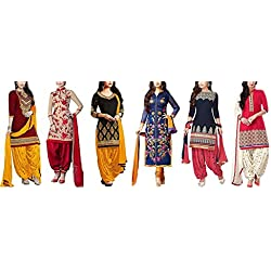 Dresses for women party wear Designer Dress Material Today offers buy online in Low Price Sale Multi Color Poly Cotton Fabric Free Size Salwar Suit Material