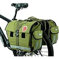 DCCN Fahrradtasche Gepäckträgertasche Fahrrad Seitentasche Super Design 3 in 1 Hinter Koffer 37 L Schwarz