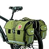 DCCN Fahrrad Gepäckträgertasche Doppeltasche 45L Fahrradtasche Packtasche mit Reflektorstreifen und