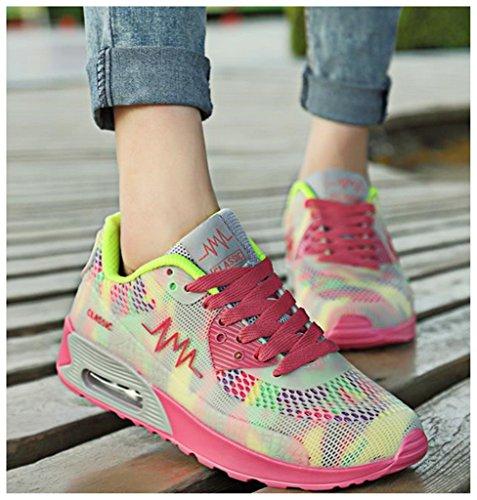 NEWZCERS , Chaussures d'athlétisme pour femme Jaune