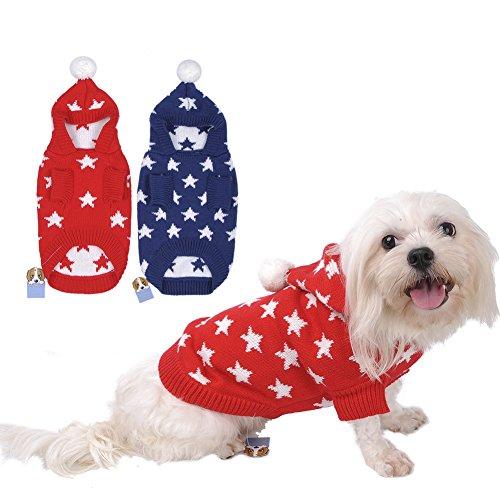 Weihnachten Winter Hunde Sweater Pullover Hundbekleidung (XXL, Blue) - 8