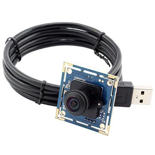 ELP Kamera Modul USB 8MP Weitwinkel Fisheye Webcam mit 180 Grad Objektiv (Webcam Outdoor Usb)