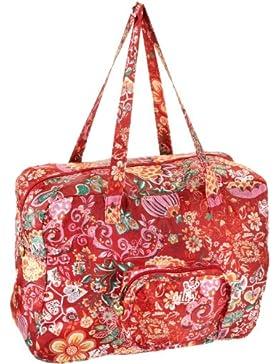Oilily Painted Flowers Folding shopper Stone OCB0117-9000, Damen Shopper, grau (Stone 9000) 41 x 18 x 31