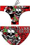 Turbo - Bañador Slip DARK SEAS de Waterpolo Competicion Natación y Triatlón Patrón de ajuste cómodo (S/30)