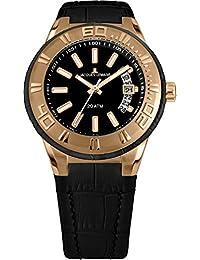 Jacques Lemans Unisex Erwachsene Armbanduhr Multi Zifferblatt Quarz Leder 1-1770G