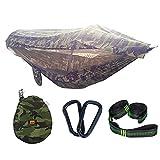 REDWALL Camping-Hängematte mit Moskitonetz Visier Tuch, Tragbare Fallschirm-Hängematten mit Pop-Up-Licht Netzzelt für Outdoor, Wandern, Backpacking, Reisen