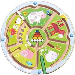 Haba 301473 – Gioco magnetico con labirinto numerico, giocattolo per bambini dai 2 anni in su,