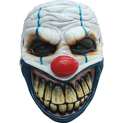 Unbekannt Mahal649Clown-Maske, furchterregend, Latex, für Erwachsene-Einheitsgröße (Clown Masque Halloween De)