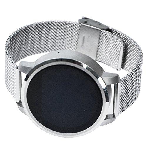 Silber Weiss Bestseller Smart-Uhren , Anti-Verlorener Alarm Vintage Armbanduhr Für Männer , Bluetooth-Musik / Sitzende Erinnerung Digitale Uhruhr