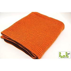 Babydecke aus Wolle in Orange/Braun Wolldecke Kuscheldecke Handmade in Berlin