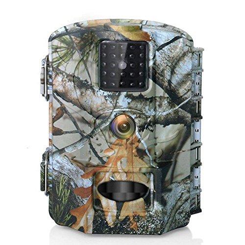 Wildkamera Olymbros Digital Fotofalle Bewegungsmelder 16MP 1080P Full HD Tag Nachtsicht Jagdkamera Weitwinkel Vision Infrarote 25m Bildschirm Wasserdicht IP65