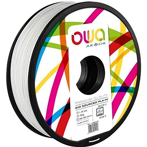 OWA PL1023OW PLA Filament, Blanc