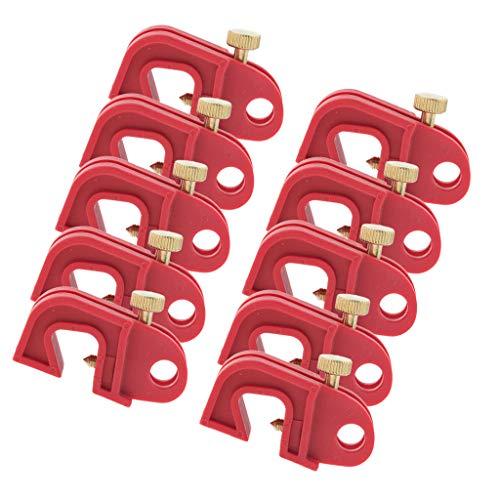 Homyl 10er pack Sicherung Lockout Universal Schalter Absperrung Rot Mit Verdrehter Schraube -