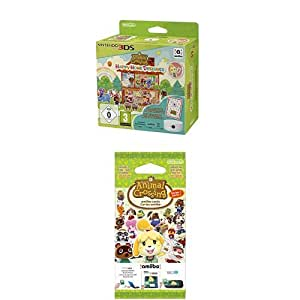 Pack Animal Crossing : Happy Home Designer + Lecteur NFC pour Nintendo 3DS + 1 Carte Amiibo + Paquet de 3 cartes