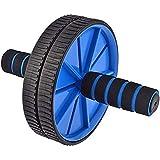 Good Times Ab Wheel, Ab Wheel Roller met 18 cm wielen, Ab Wheel Roller met kniesteun, buiktrainer met kniemat voor fitness, b