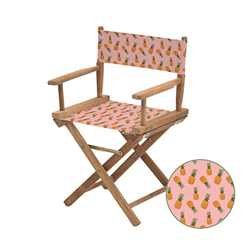 Gardenista Durable Replacement Seat Cover for Directors Chair | Water Resistant & Easy Clean Fabric | Torino Style (Tropic Pineapples)