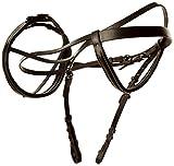 Kerbl 321715 EHL Trensenzaum, Leder, schwedisch Modell, Pony, schwarz