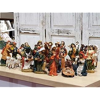 27figuras de belén navideño con pastores, 12cm