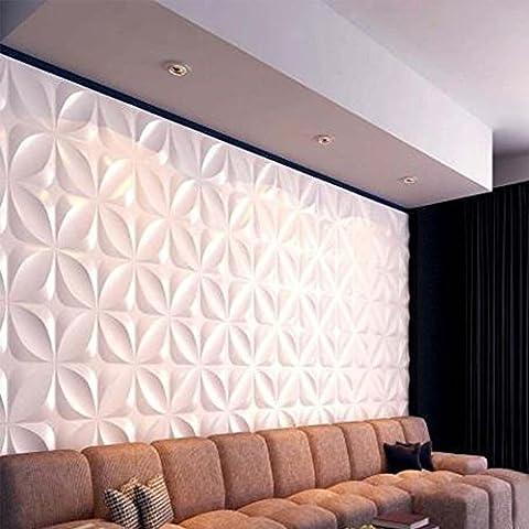Yazi 4unidades 3d Junta Azulejos de pared Panel pintado para tienda de salón fondo cuadrado 30x