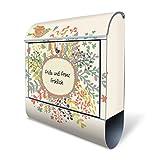 Design Briefkasten mit Zeitungsfach