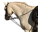 Hunters Saddlery - Riendas elásticas para Entrenamiento de Caballos para almorzar y Montar con Sistema de Ayuda para el pulmón Ecuestre de tamaño estándar Totalmente Ajustable